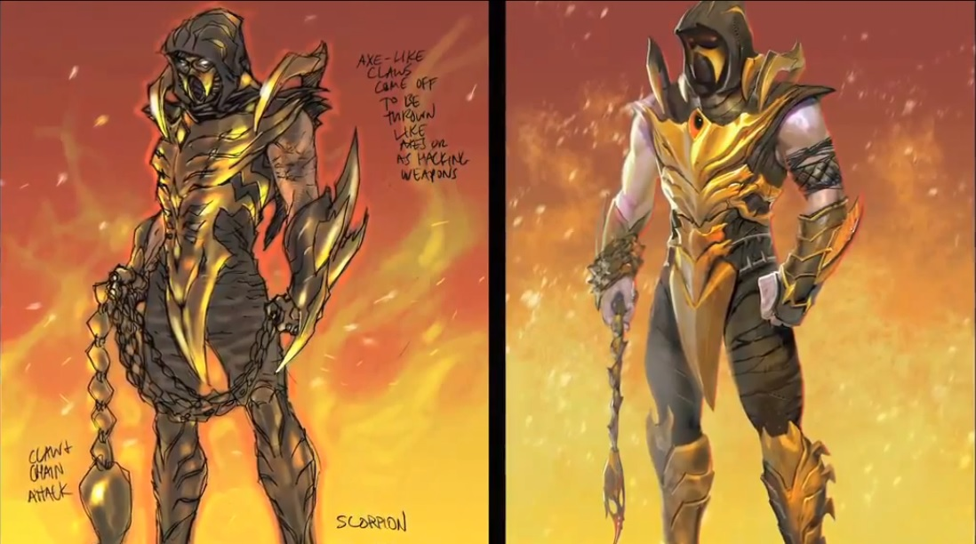 Mortal kombat scorpion adult mens costume